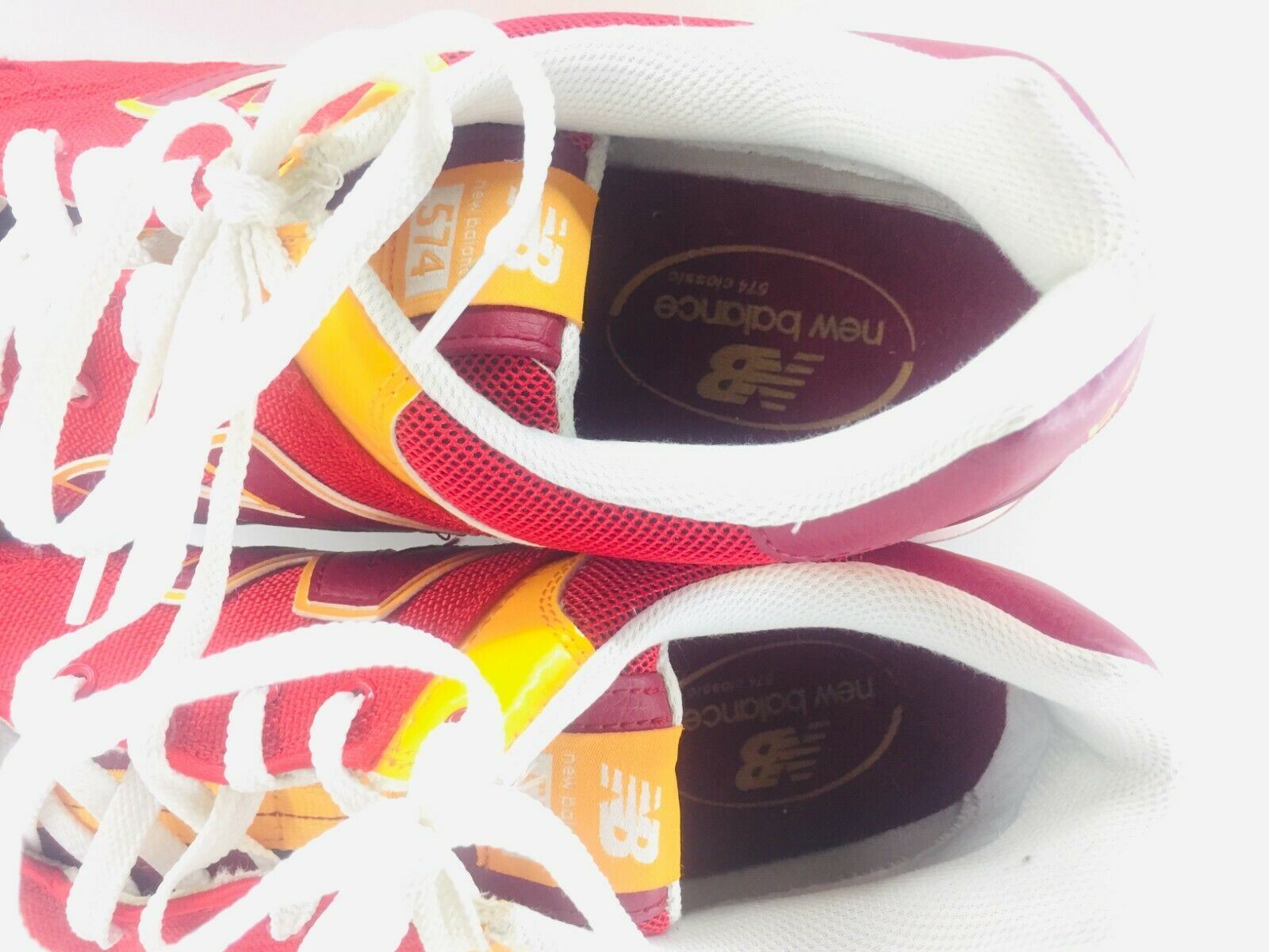 New Balance Athletic Sneaker Shoes Men's Sz 11.5 Red Orange ML574PPR  574 EUC image 10