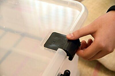 Sanko plastic storage case box Natural Black L (46.5 �~ 31.5 �~ 26.5cm) 144461 image 2