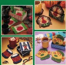 Plastic Canvas Christmas Thanksgiving Southwest Noahs Ark Apple Coaster Pattern - $12.99