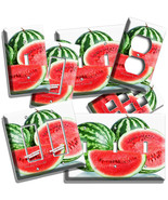 SLICED RED WATERMELONS LIGHT SWITCH OUTLET WALL PLATES KITCHEN PANTRY RO... - $10.99+