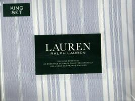 Brand New Ralph Lauren King Size Sheet set Leo Stripe - $125.00