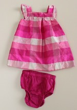 Baby GAP Infant Dress Pink Plaid Checkers Bloomers 6-12 M - $15.81