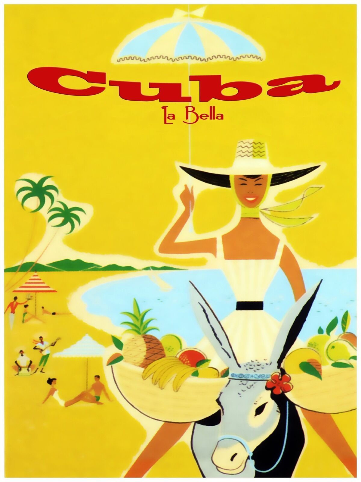 Primary image for Decorative Poster.Interior wall art design.Cuba La Bella.Travel afiche.3939