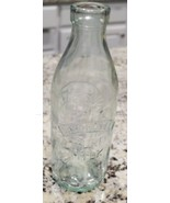 Vintage Made In Italy Absolutely Pure Milk Bottle With Embossed Cow - $8.78