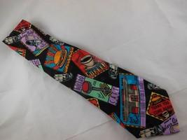 Vintage Addiction  Hand Made 100% Silk Mens Necktie Bolero Coffee House ... - $15.24