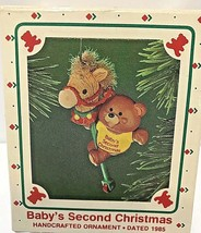 Hallmark Baby's Second Christmas 1985 Handcrafted Ornament - £12.37 GBP