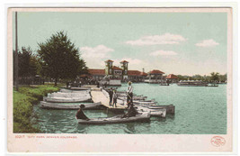 Boat Boating City Park Denver Colorado 1905c postcard - $6.44