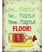 Tequila Pavimento! Divertente Pub Shots Spiriti Misura Media Metallo - $10.73
