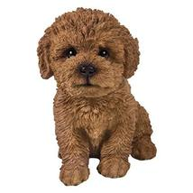 Pacific Giftware PT Realistic Look Statue Brown Bichon Frise Puppy Dog H... - $24.74