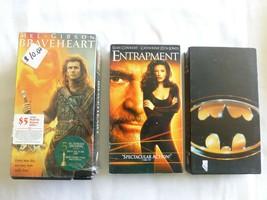 3 VHS Tapes. Batman, Entrapment, 2 tape set Braveheart - $11.26