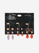 Disney Beauty and the Beast 6x Earrings and Cuff Set - $15.99
