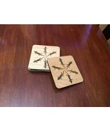 Laser engraved and Cut Coasters with Cork Backing - $25.00