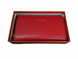 Vintage New in Box Dust Bag Pierre Cardin Red Leather Wallet Clutch Bag image 2
