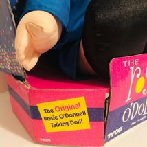 """New 1997 Rosie O'Donnell (O'Doll) Talking Celebrity Plush Doll 18"""" Tyco- Tested image 4"""