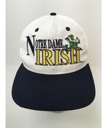 Notre Dame Fighting Irish Hat Cap Green Leprechaun Embroidered Snapback EUC - $22.23