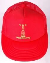 Vtg G&S Oil Product Hat-Red-Snapback-Meshback-Trucker Cap - $23.36
