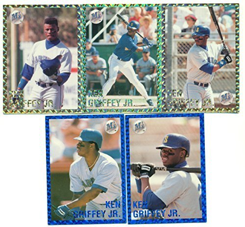 1991 Ken Griffey Jr. 5 Card Foil Stamped Limited and Numbered - Rare - Seattle M