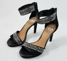 Gianni Bini High Heel Sandals Stilettos Shoes Black Beaded Embellished Women 6.5 - $19.66