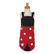 "Ladybug Childrens Apron New Black Red DII 20"" x 23"" Cotton - $22.76"