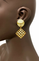 """2"""" Long Gold Tone Bohemian Style Clip On Earrings, Pageant, Urban, Casual - $13.78"""