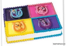 LITTLE PONY Cake Topper Cupcake Pop Top Party Decoration Favor Plac x4 F... - $9.85