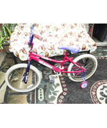 bicycle ,bike   pink  with  training  wheels  16  inch - $14.99