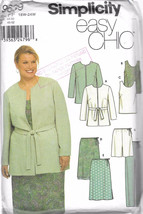 Simplicity 9639 Easy Chic Lined Jacket, Top, Skirt, Pants and Shorts Pattern  Si - $10.00