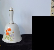 Beautiful Porcelain Bell with Orange, Purple, &... - $2.96