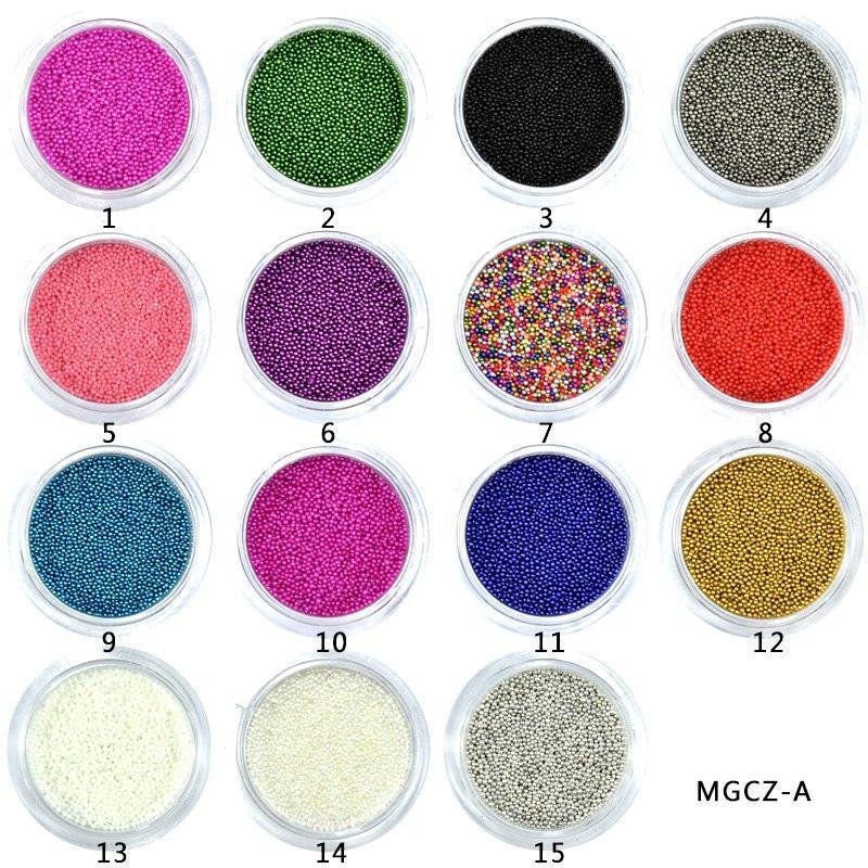 Box 0.6-0.8-1Mm Caviar  Nail Art Bead Rhinestone For Nails Micro Nai Crystal