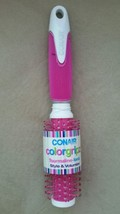 NEW CONAIR COLORGRIPZ TOURMALINE IONIC ROUND PINK BRUSH COLOR GRIPZ - $5.99
