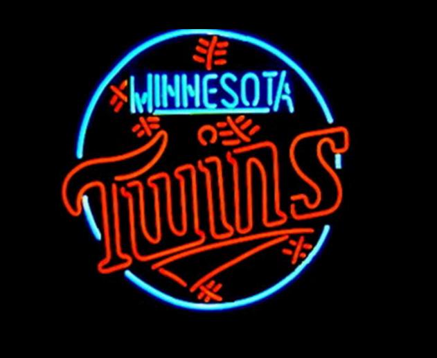 """New Minnesota Twins MLB Logo Neon Sign 24""""x20"""" Ship From USA"""