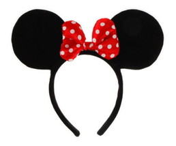 Minnie Mouse Ears, Headband and Polka-Dotted Bow Licensed Costume Access... - $12.59