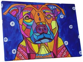 """Pingo World 0708QBM3G7M """"Heather Galler Boxer Pit-bull Dog"""" Gallery Wrapped Canv - $43.51"""
