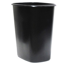 Black Wastebasket Rectangular Plastic Trash Bin Garbage Can Recycling Co... - $19.17