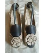 Naturalizer fabric tan wedge heel slingback shoes berlynn womens size 9.5N - $29.70