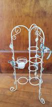 Table Candelabra votive candle holder 6 votive folding stand shabby vint... - $35.00