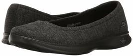 New Skechers Performance Ladies' Black/Grey Go Step-Lite Flats Slip On Shoe NIB