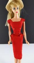 Barbie 986 Red Sheath Sensation Big Brimmed Straw Hat Original 1961 Clot... - $39.59