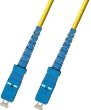 18M Singlemode Duplex Fiber Optic Cable 9/125 - SC to SC 60FT - $9.50