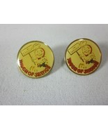 2 Vintage McDonalds SPEEDEE Pins Touch of Service Lapel Hat Pin - $11.88