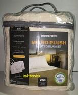 Biddeford King Size Electric Heated Blanket Micro Plush Ivory - $159.99