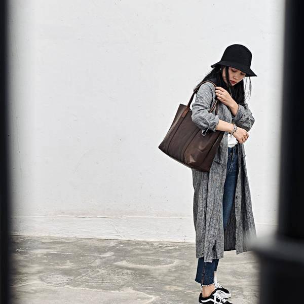 On Sale, Handmade Women Tote Bag, Full Grain Leather Shoulder Bag image 4
