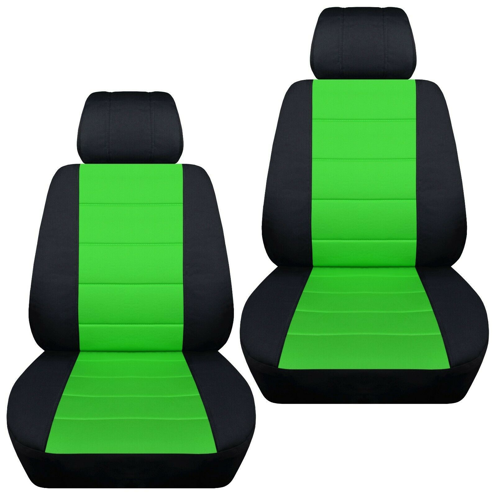 Front set car seat covers fits Chevy Spark  2013-2020   black and lime green - $67.89 - $74.44
