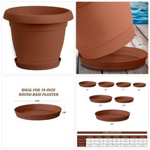 "ALMI Carmel Plastic Plant Saucer Drip Tray 12"" Good For 19"" Round Base T... - $34.16 CAD"