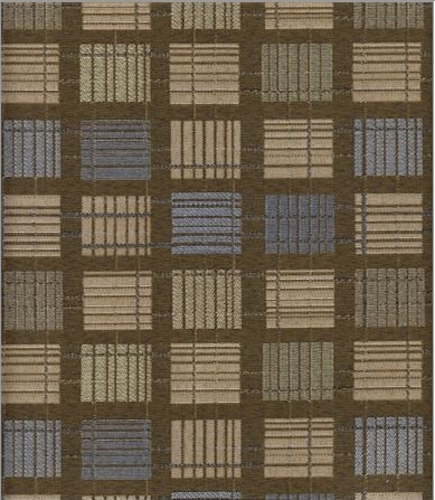 By The Yard Geometric Upholstery Fabric Mayer Jenga in Bronze 346-010 DL4