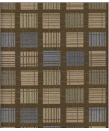 By The Yard Geometric Upholstery Fabric Mayer Jenga in Bronze 346-010 DL4 - $9.50