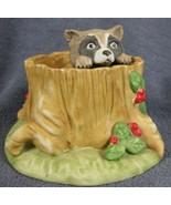 Raccoon Woodland Surprises Franklin Mint Hand Painted Porcelain Figurine... - $14.95