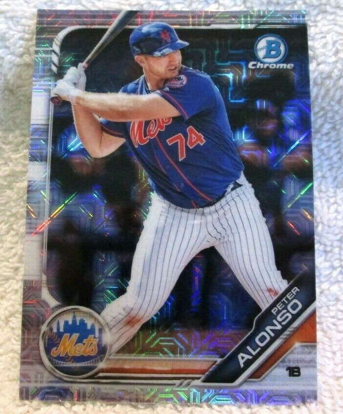 Primary image for Peter Alonso RC 2019 Bowman Chrome Mojo Refractor Rookie#127 PSA10?Mets RC-VERS4