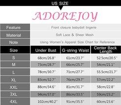 Lingerie for Women Front Closure Babydoll Lace Chemise V Neck Mesh Sleepwear 1 image 8