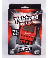 Hasbro Gaming A2125 Yahtzee Electronic Handheld Game 2012 Red Black Dama... - $13.85